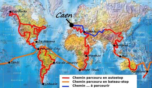 La increíble odisea del francés que viajó gratis por 71 países