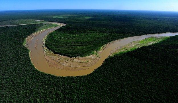 Vista aérea de El impenetrable, una gran región de bosque nativo al noroeste de la Provincia del Chaco, Argentina.