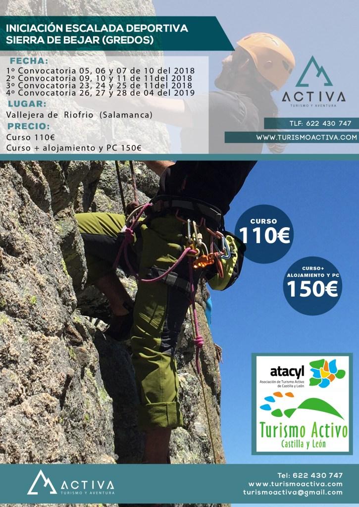 cartel iniciacion escalada deportiva