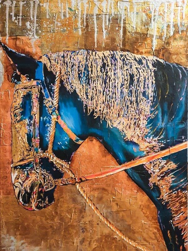 Quadro con cavallo - Sandra Petreni