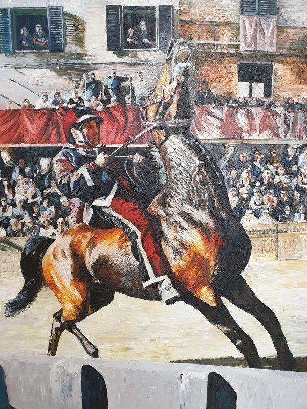 Quadro con cavallo Palio - Sandra Petreni