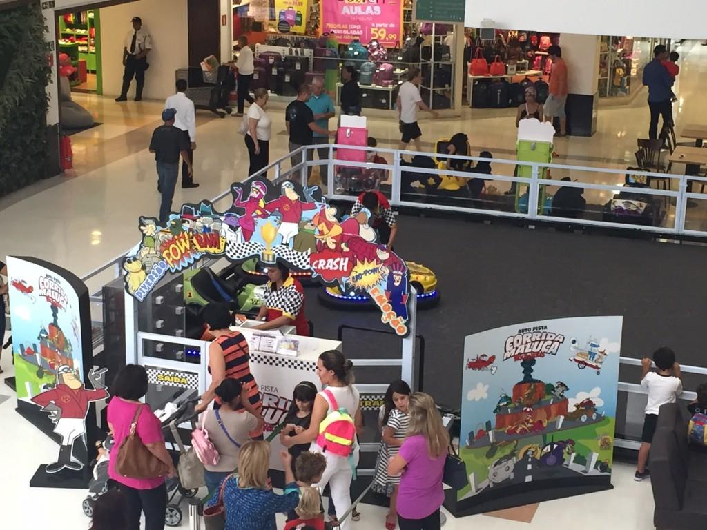 A Coorida Maluca está na praça de eventos do shopping até o dia 29 de fevereiro (foto divulgação)