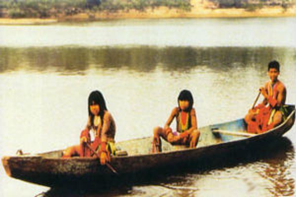 ilha do bananal índios navegando