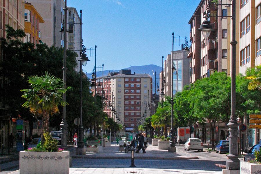 Avenida Pérez Colino en Ponferrada