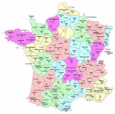regiones de francia Mapa de las Regiones de Francia