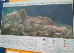 Mapa Rutas del Agua Ribdesella. Ruta 1