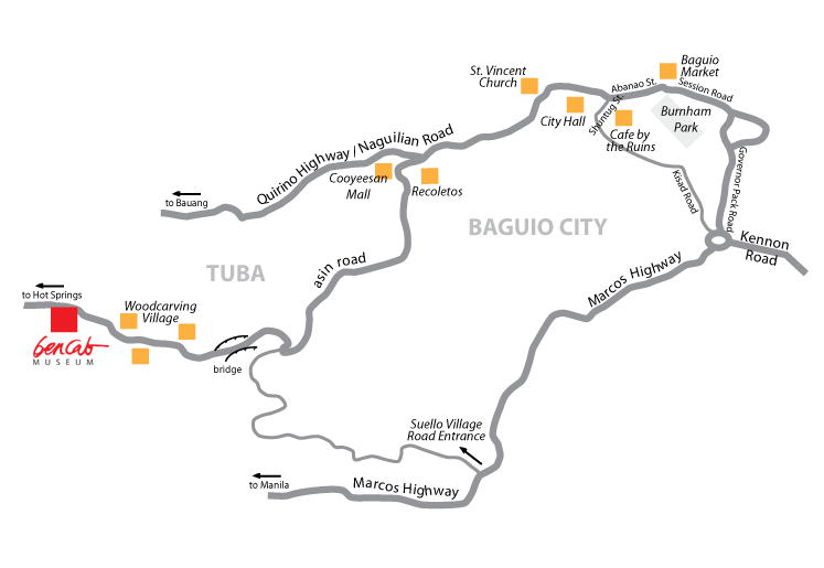 BenCab Map Baguio | Turista Boy