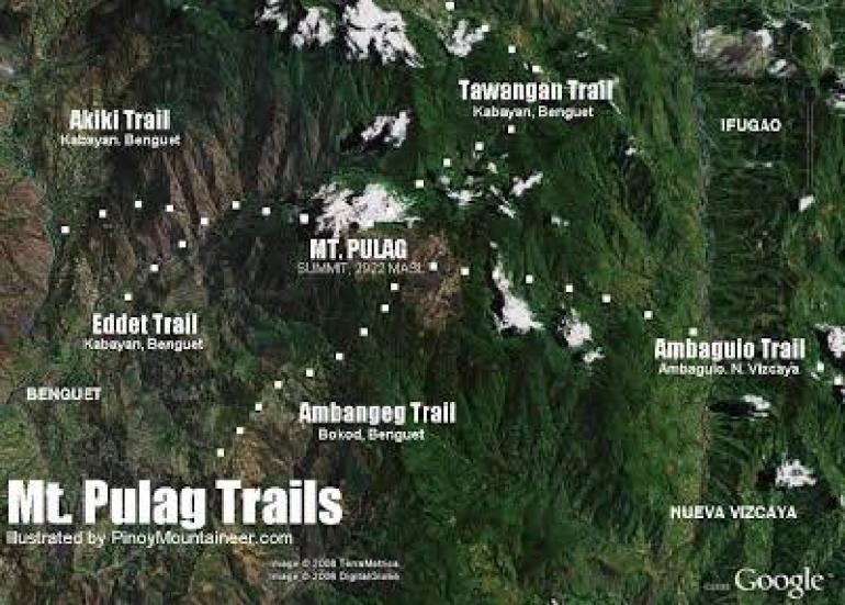 Different Trails to Mount Pulag Summit (via pinoymountaineer.com)