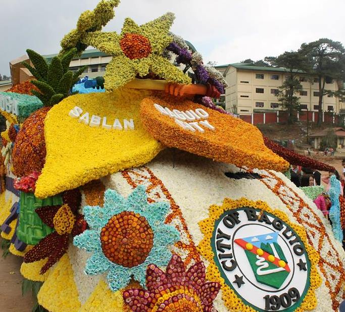 The City Government of Baguio Participating Floral Float for Panagbenga Festival 2015.
