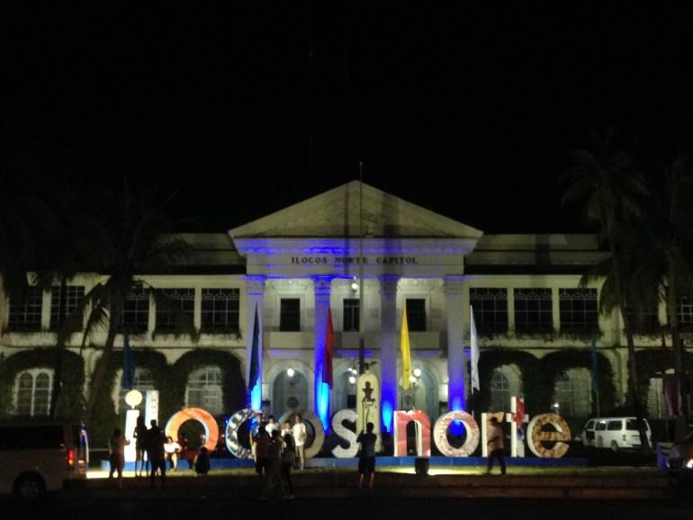 Ilocos Norte Capitol at night