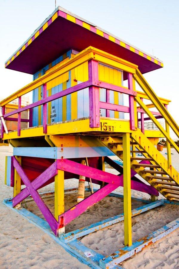 Art Decó en las playas de Miami Beach. Foto: Thomas Hawk