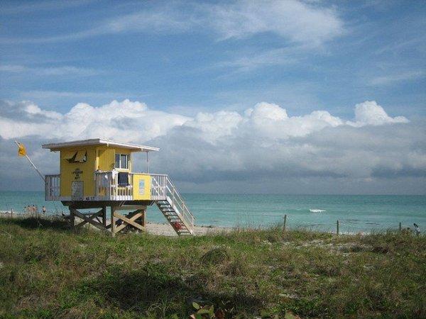 Art Decó en las playas de Miami Beach. Foto: Sun Dazed