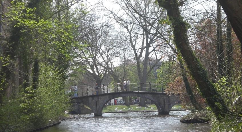 Ponte na cidade de Bruges