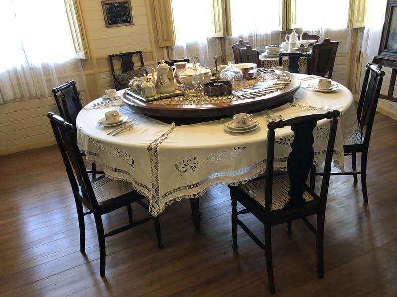 Sala de jantar da Família Franzen no Castelinho Caracol.