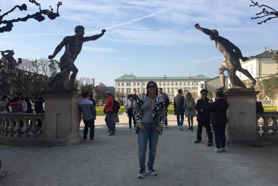Roteiro de 3 dias em Salzburgo: esculturas do Mirabellgarten.