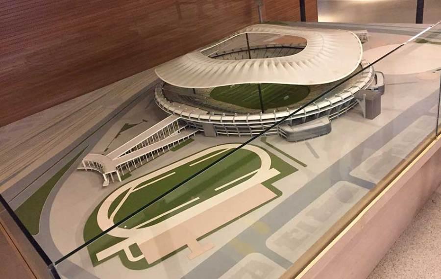 Tour no Maracanã: maquete do estádio