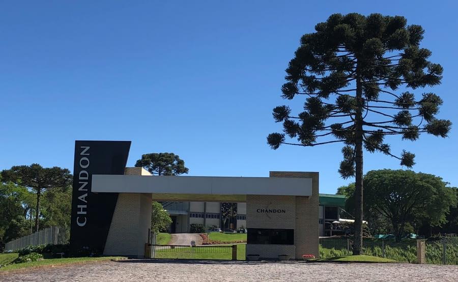 Como visitar a Vinícola Chandon - entrada do complexo