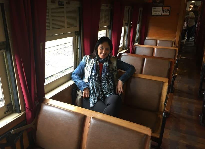 Vagão de número 215 do Trem Maria Fumaça na Serra Gaúcha.