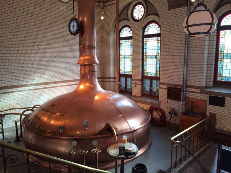 Antiga sala de brassagem da Cervejaria Heineken.