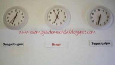 Relogios do Braga Pop Hostel