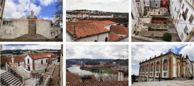 Biblioteca Joanina e visao da cidade A cidade universitária de Coimbra