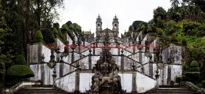 Um dia na cidade de Braga em Portugal
