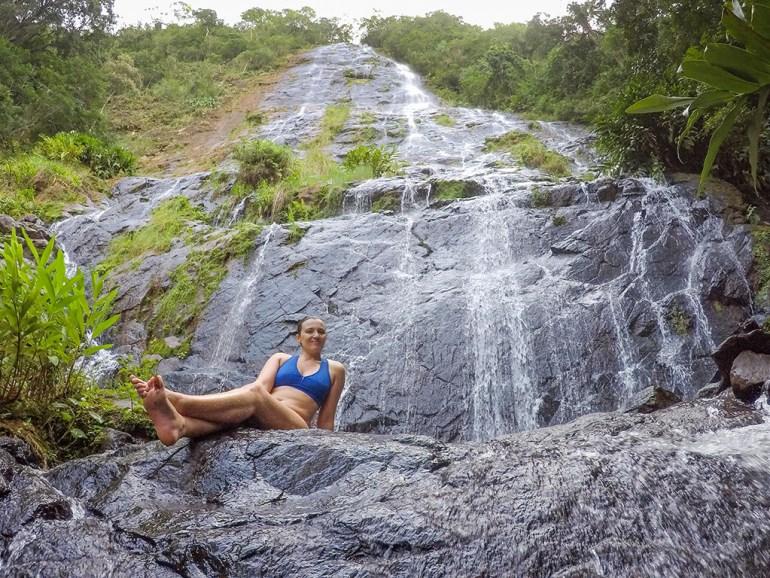 Cachoeira Véu da Noiva em Faxinal.