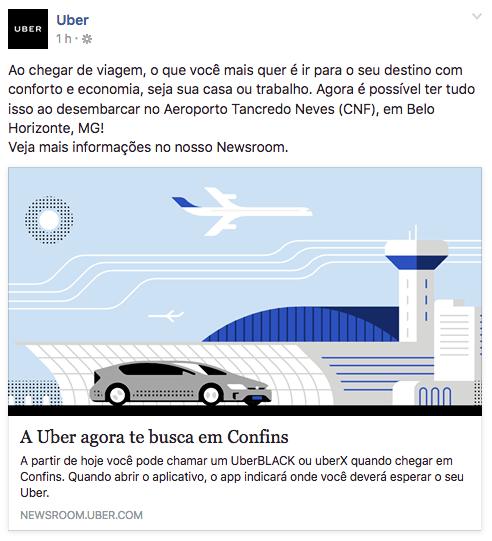 uber aeroporto confins