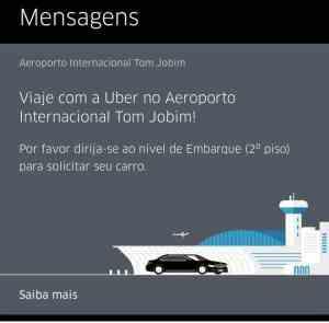 usar o Uber no Rio de Janeiro