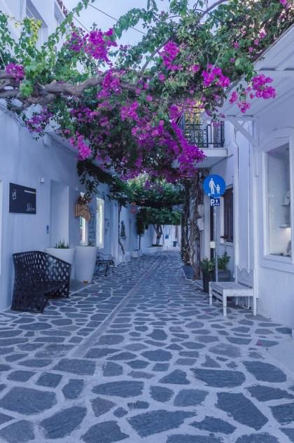 oras port paroikia insula paros grecia