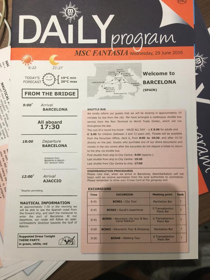 Barcelona - program
