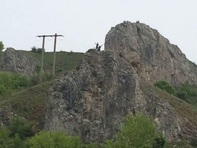 Cetatea Liteni - cliffs