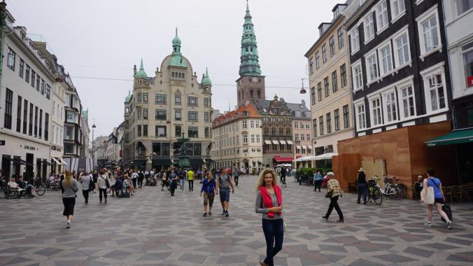Copenhaga - stroget shops