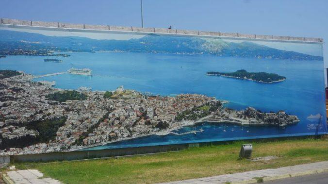 Corfu - map