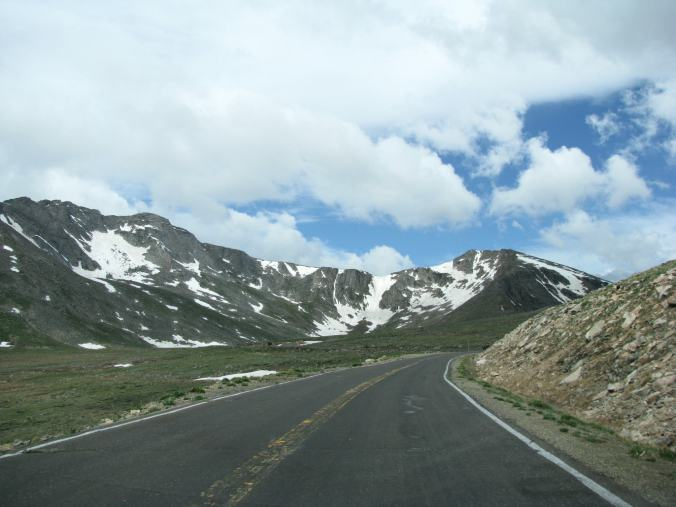 Denver - mount evans snow