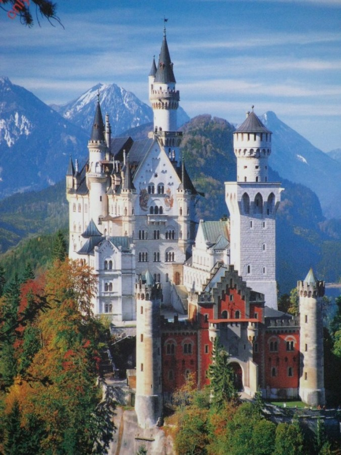 Neuschwanstein - castle panoramic