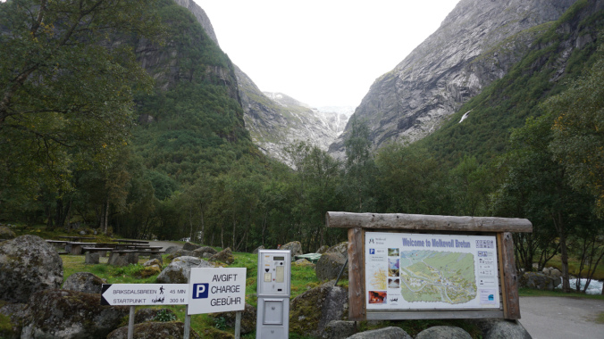 Norvegia - briksdal glacier parking