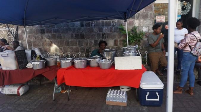 St. Kitts si Nevis - street food