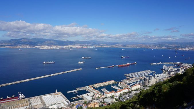 Gibraltar - cable car view