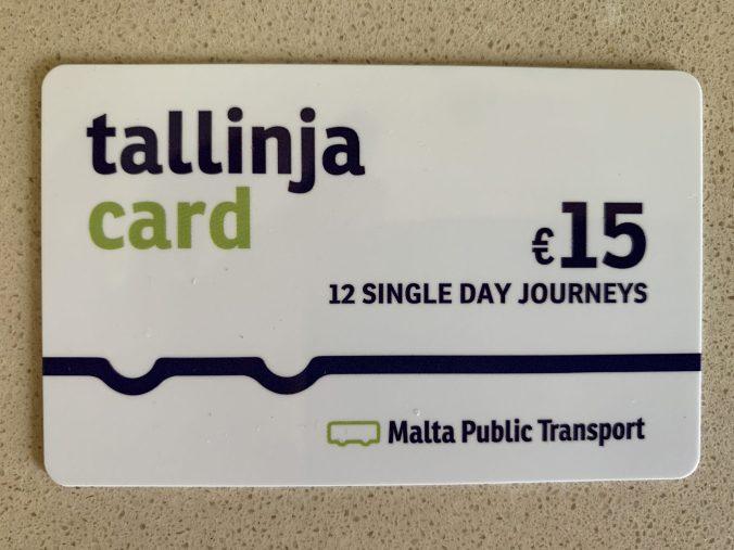 Malta -tallinja card