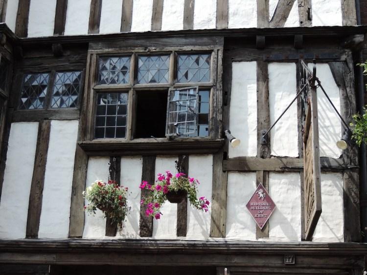 Canterbury, antiche case a graticcio