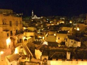 Matera di notte Sasso Barisano