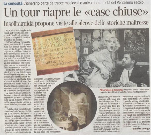 Napoli Insolita Guida le Case Chiuse