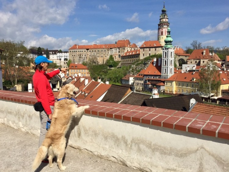 Cesky Krumlov con il cane