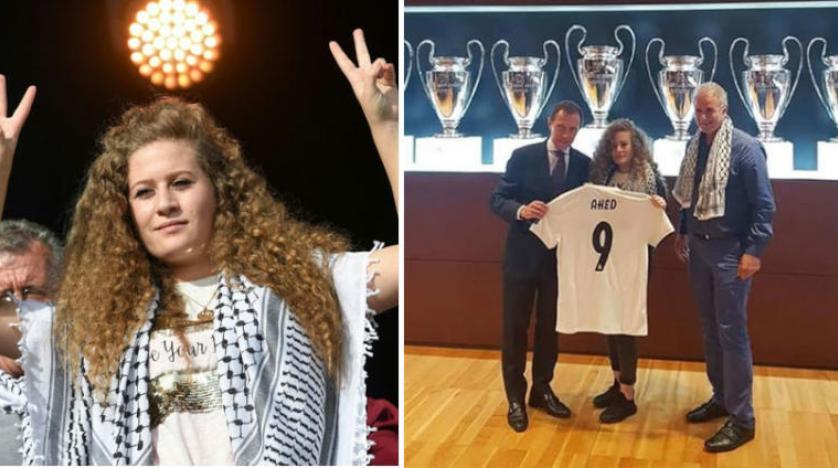 İsrail'dan Ahed et-Tamimi'yi ağırlayan Real Madrid'e sert eleştiri