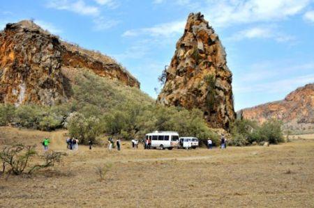 In Hell's Gate park, Kenya.