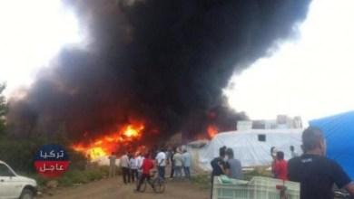 حريق يلتهم مخيم لـ اللاجئين السوريين شرق لبنان