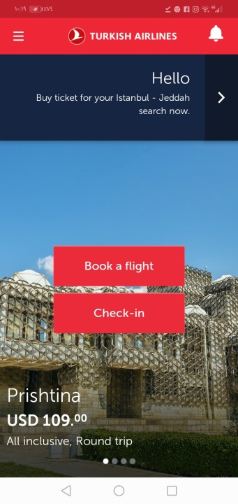 الخطوط الجوية التركية Turkish Airlines رحلات اليوم