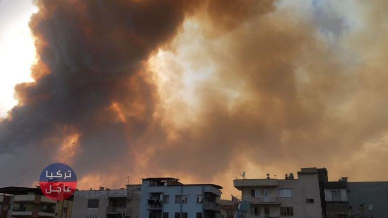 حريق هائل في أيدن واخلاء لعشرات المنازل