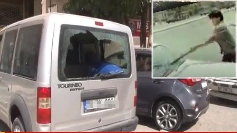 شاهد ماذا فعلت شابة سورية بـ 21 سيارة في شانلي أورفا (فيديو)